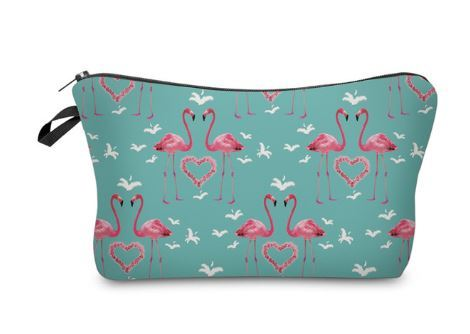 Flamingo Necessaire Herz Love Tier Zoo