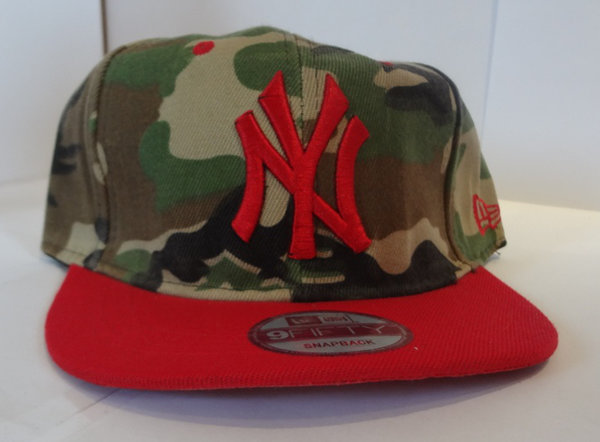 Basecap Camouflage NY Rot RED Militär