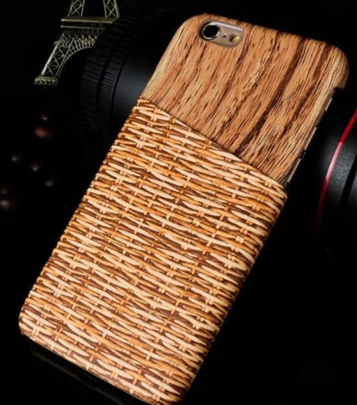 Case iPhone 6 6s Holz Flechtoptik