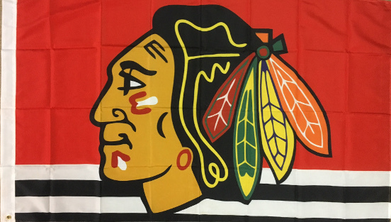 Chicago Blackhawks Fahne Indianer