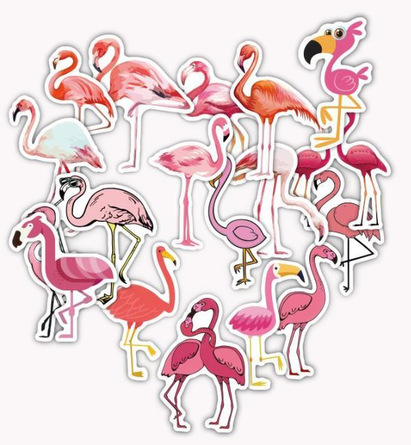 Flamingo Stickerset Stickerbomb Kleber